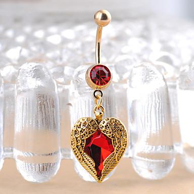Navel Ring / Belly Piercing - Rustfritt Stål Hjerte, Kjærlighed Unikt design, Mote Dame Gull Kroppsmykker Til Julegaver / Daglig / Avslappet