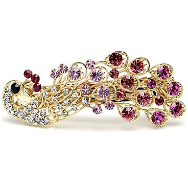 Women's Alloy Hair Clip Purple Rose Blue Rainbow Champagne