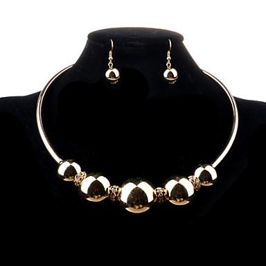 Ékszer készlet Nyaklánc / fülbevaló Divat utánzat Diamond Ötvözet Ezüst Aranyozott Nyakláncok Naušnice Mert Esküvő Parti Napi Hétköznapi
