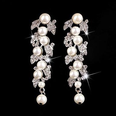 Pendentif d'oreille en forme de lustre - en Argent/Perle/Alliage - pour Femme