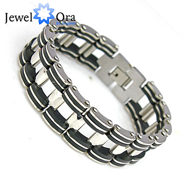 Men's Chain Bracelet Chain Personalized Unique Design Fashion Stainless Steel Silver Others Jewelry Party Birthday Engagement Gift Daily