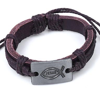 Femme Bracelets en cuir Bracelet de survie Bijoux initial Cuir Alliage Bijoux Mariage Soirée Quotidien Décontracté