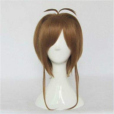 Cosplay  Dark Brown Long Straight Animated Synthetic Hair Wig Cartoon Wig