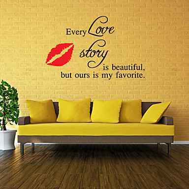 Words & Quotes Naklejki Naklejki na słowa i cytaty Dekoracyjne naklejki ścienne, Winyl Dekoracja domowa Naklejka Ściana