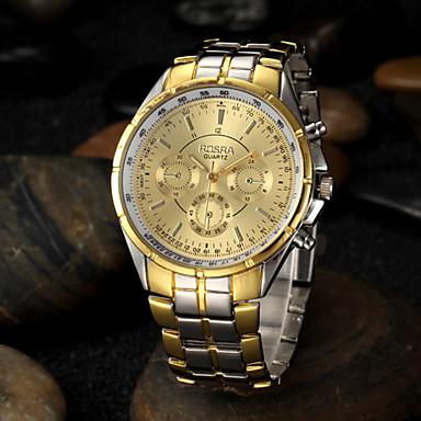 Bărbați Ceas de Mână Quartz Aliaj Bandă Argint Auriu