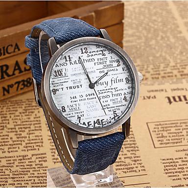 yoonheel Damen Quartz Armbanduhr Schlussverkauf Leder Band Retro Uhr mit Wörtern Modisch Schwarz Blau Braun