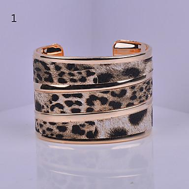 Damskie Bransoletki cuff Posrebrzany Pozłacane Stop Unikalny Modny Biżuteria 1 2 3 Biżuteria 1szt