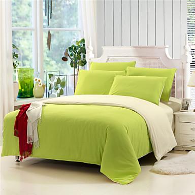 Nevresim Takımları Tek Renk 4 Parça Duyarlı Baskı 1 adet Yatak Örtüsü 2parça Yastık kılıfı 1 adet Düz Çarşaf