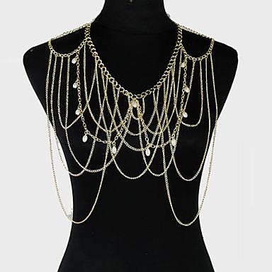 Kadın's Vücut Mücevheri Vücut Zinciri / Belly Chain Eşsiz Tasarım Parti Günlük Moda alaşım Diğerleri Mücevher Uyumluluk Parti