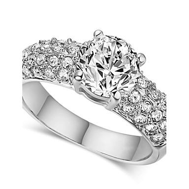 Női Kristály Nyilatkozat gyűrű - Hamis gyémánt Klasszikus 6 / 7 / 8 Kompatibilitás Esküvő / Parti / Napi