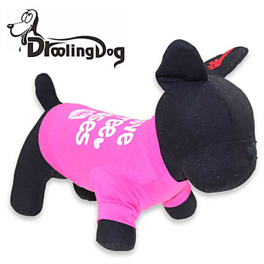 Cat Dog Shirt / T-Shirt Dog Clothes Letter & Number Rose Cotton Costume For Pets