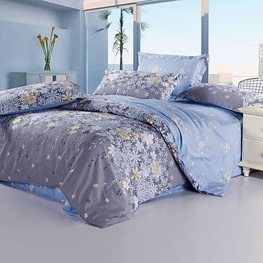 Yuxin® Light Purple Color Duvet Cover Fashion Comfortable Flower Printed Full/Queen/King Size