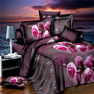 ensembles housse de couette 3d mod le al atoire 4 pi ces imprim 1 x housse de couette 2 x. Black Bedroom Furniture Sets. Home Design Ideas