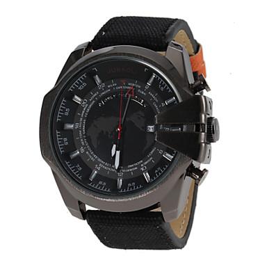JUBAOLI® Men's Military Design Black Case Fabric Band Quartz Wrist Watch Cool Watch Unique Watch