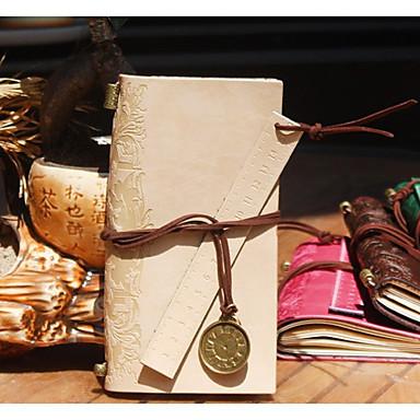 δέρμα vintage σημειωματάριο με δερμάτινο χάρακα bookmarks21 * 12 * 2 εκατοστών (8,27 * 4,72 * 0,79 ίντσες)