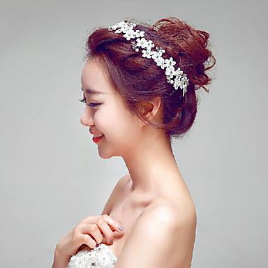 Femme Jeune bouquetière Dentelle Strass Imitation de perle Casque-Mariage Occasion spéciale Extérieur Fleurs 1 Pièce