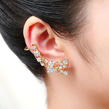 남성용 여성 귀는 크리스탈 아크릴 은 도금 도금 골드 모조 다이아몬드 Animal Shape 버터플라이 보석류 제품 결혼식 파티 일상 캐쥬얼