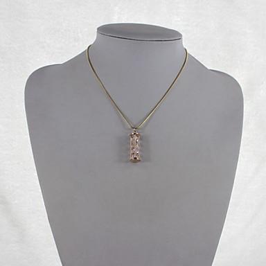 Kadın Uçlu Kolyeler Zirkon Kübik Zirconia alaşım Moda Mücevher Için Parti Günlük 1set