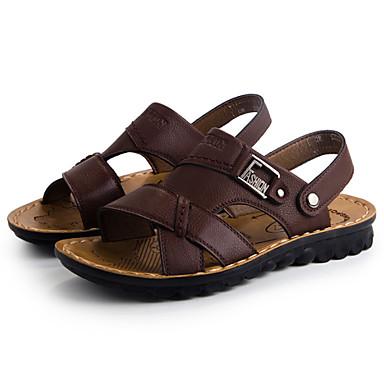 Erkek Ayakkabı Yapay Deri Bahar Yaz Sonbahar Toka Uyumluluk Günlük Siyah Kahverengi