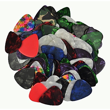Heavy 0.96mm Guitar Picks Plectrums Celluloid Assorted Colors 100Pcs-Pack
