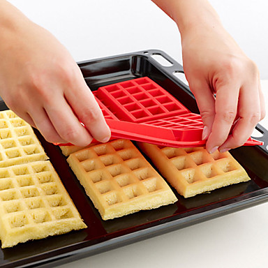 Bakeware tools Silicone DIY For Pie / Cake / Kitchen Rectangular Cake Molds / Cookie Cutters 1pc