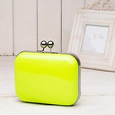Γυναικείο Τσάντες PU Βραδινή τσάντα για Causal Όλες οι εποχές Πορτοκαλί Κίτρινο Φούξια Μπλε Πράσινο Ανοικτό