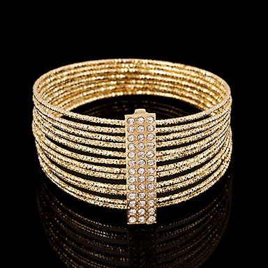Bangles Uniek ontwerp Modieus Europees imitatie Diamond Cirkelvorm Sieraden Goud Zilver Sieraden Voor Feest 1 stuks