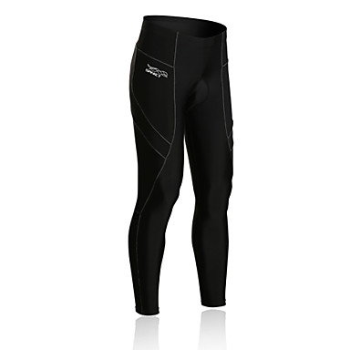 SPAKCT Cycling Pants Men's Bike Tights Compression Clothing Bottoms Bike Wear Breathable Reflective Trim/Fluorescence 3D Pad Compression