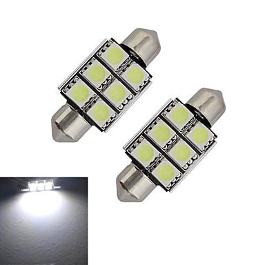 1,5W 100-150 lm Festoon Διακοσμητικό Φως 6 leds SMD 5050 Ψυχρό Λευκό DC 12V