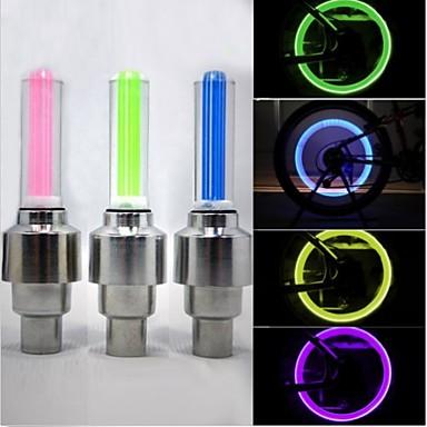 Kerékpár világítás kerék fények szelepsapkát villogó fények LED - Kerékpározás Vízálló 50 Lumen AkkumulátorBattery Kerékpározás