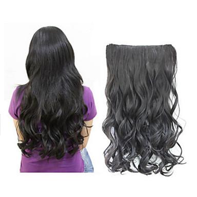 moda tek parça uzun kıvırmak / kıvırcık / dalgalı saç uzatma