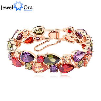 voordelige Dames Sieraden-Veelkleurig Zirkonia Kralenarmband Regenboog Streng Kubieke Zirkonia Armband sieraden Regenboog Voor Bruiloft Feest Dagelijks