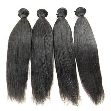 Brasilianisches Haar Glatt / Klassisch Unbehandeltes Haar Menschenhaar spinnt Menschliches Haar Webarten Haarverlängerungen / Gerade