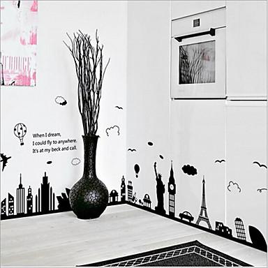 Dekorative Mur Klistermærker - Ord og sitater Wall Stickers Landskap / Still Life / Romantik Stue / Soverom / Kjøkken