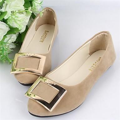 Γυναικεία παπούτσια - Μπαλαρίνες - Καθημερινά - Επίπεδο Τακούνι - Στρογγυλή Μύτη - Ύφασμα -Μαύρο / Μπλε / Καφέ / Πράσινο / Ροζ / Μωβ /