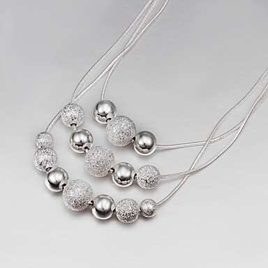 Women's Statement Necklace - Silver Silver Necklace For Party