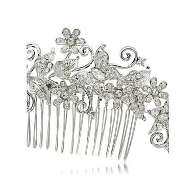 Kobiety Flower Girl Rhinestone Stop Winieta-Ślub Piękny Hair Combs 1 sztuka