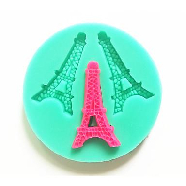 Eiffel bakeware σιλικόνη πύργος καλούπια ψησίματος για γλυκά φοντάν κέικ σοκολάτας