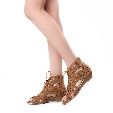 Для женщин Обувь Дерматин Весна Лето Осень Туфли на танкетке Пряжки Назначение Для праздника Черный Белый Желтый