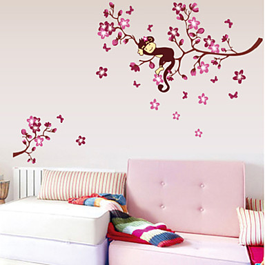 Animaux / Botanique / Bande dessinée Stickers muraux Stickers avion Stickers muraux décoratifs,PVC Matériel AmovibleDécoration