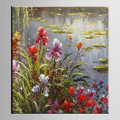 Hand-Painted Floral/Botanical Vertical, Modern Canvas Oil Painting Home Decoration One Panel