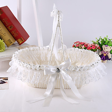 Flower Basket Satin Silk 6 3/4