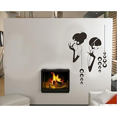 moda gilr dinleme müzik ev dekor alıntı duvar çıkartma zooyoo8062 dekoratif çıkarılabilir vinil duvar sticker