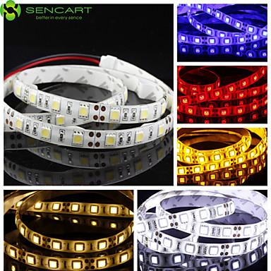 Flexible LED-Leuchtstreifen 60 LEDs Warmes Weiß Weiß Gelb Blau Rot Schneidbar Abblendbar Selbstklebend Für Fahrzeuge geeignet Verbindbar