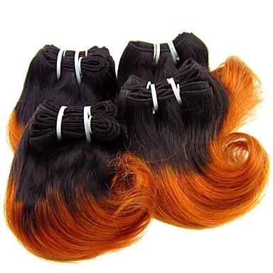 Бразильские волосы Волнистый Ткет человеческих волос 1 шт. 0.1