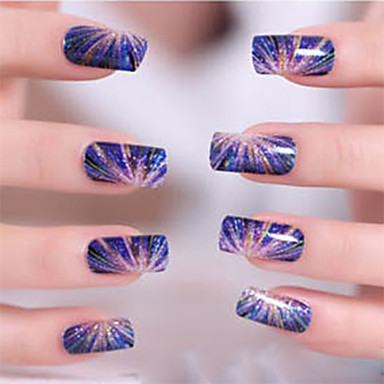 3D Nail Stickers Nail Stamping Template Daglig Tegneserie Mote Høy kvalitet