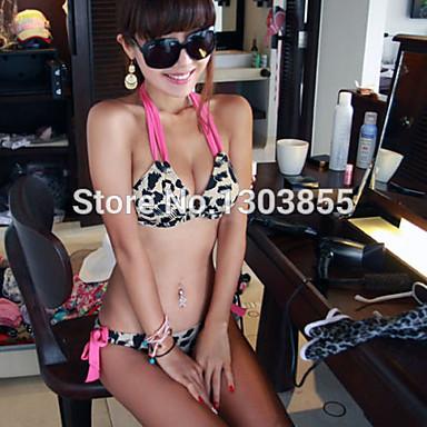 nya sexiga heta kvinnor leopard bikini push-up vadderad behå baddräkt  baddräkt badkläder 21eef44a24993