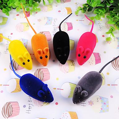Γάτες / Σκυλιά Παιχνίδια για κατοικίδια Διαδραστικό Ποντίκι Τυχαίο Χρώμα Λάστιχο