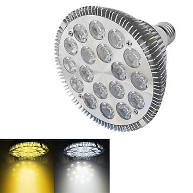 JIAWEN® PAR38 E27 18W 1X18LEDs 1500-1600LM Warm White/White 3000-3200K/6000-6500K LED Spot Light (AC 220V)