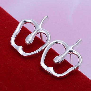 Damen versilbert Ohrstecker - nette Art Silber Ohrringe Für Alltag Normal Büro & Karriere